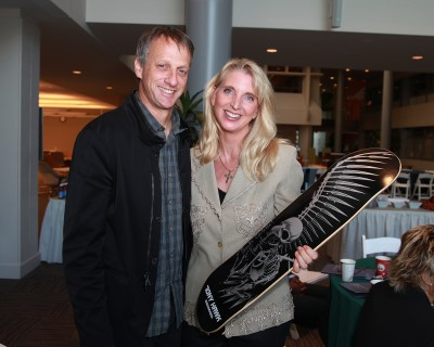 Tony Hawk with Carlette Patterson